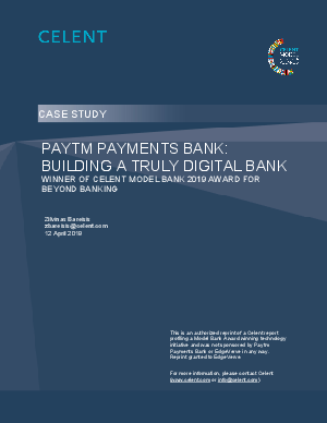 Mobile wallet to a Digital Bank: A Celent CaseStudy on Paytm