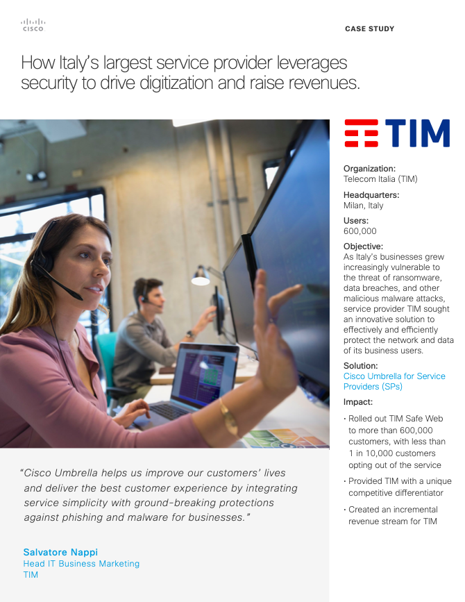 How Italy's largest service provider leverages security to drive digitization and raise revenues.