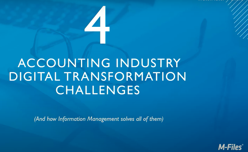 Webinar - 4 Accounting Industry Digital Transformation Challenges
