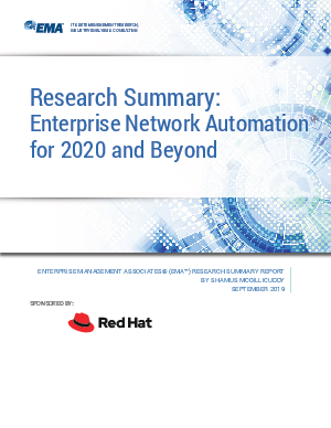 Enterprise network automation for 2020 and beyond