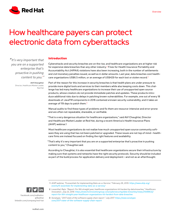 How healthcare payers can protect electronic data from cyberattacks