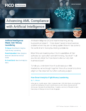 Advancing AML Compliance with Artificial Intelligence