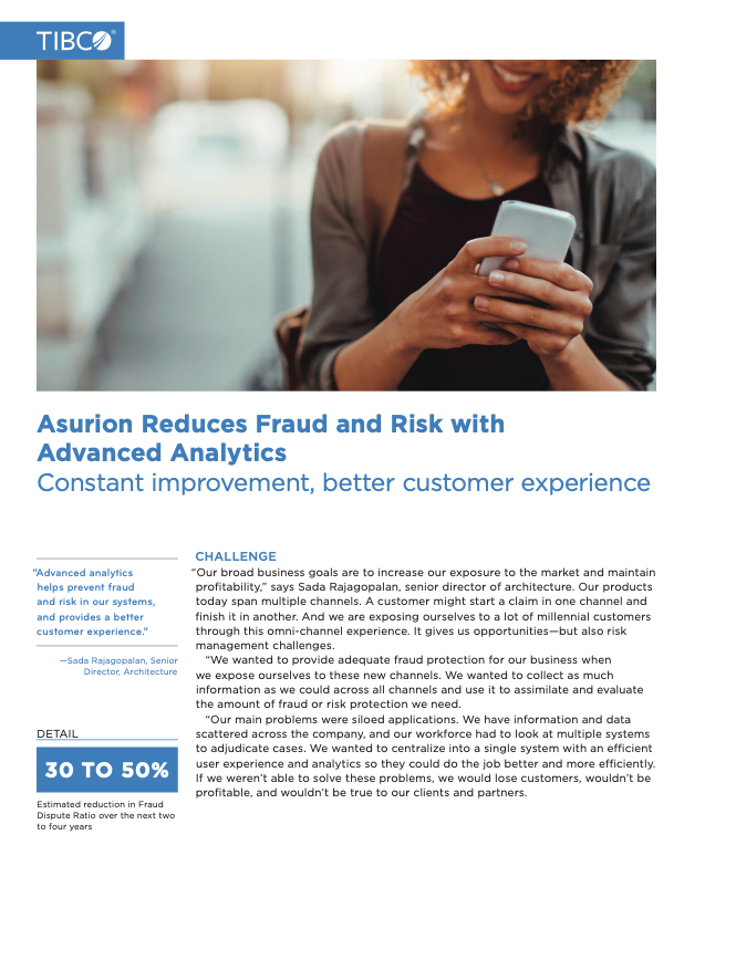 Asurion Reduces Fraud and Risk with Advanced Analytics Customer Success Story