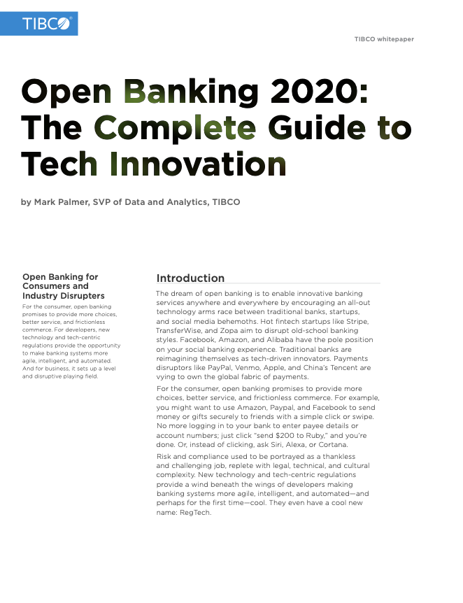 Open Banking 2020: The Complete Guide to Tech Innovation
