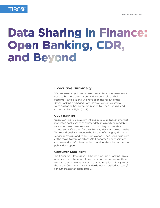 Data Sharing in Finance: Open Banking, CDR, and Beyond