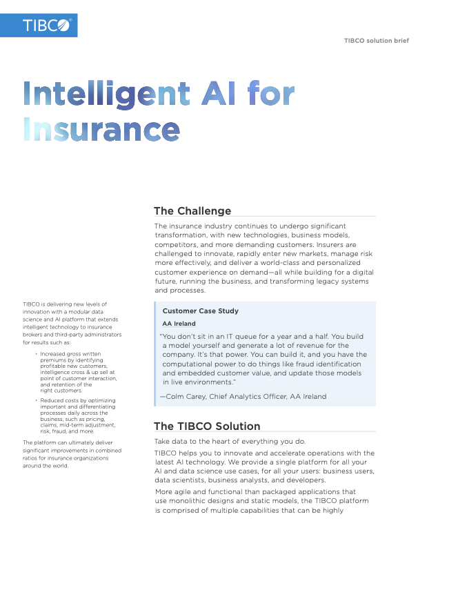 Intelligent AI for Insurance