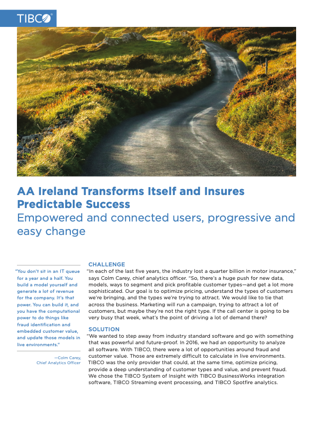 AA Ireland Transforms Itself and Insures Predictable Success