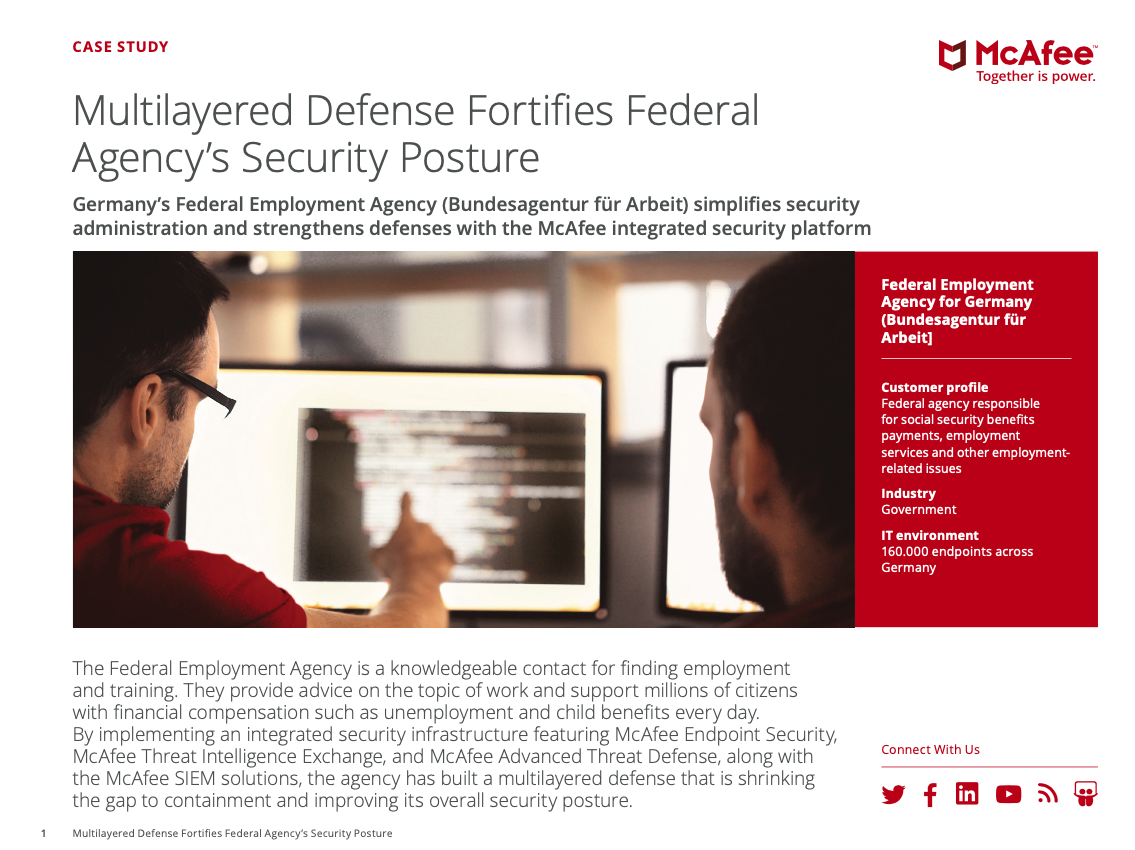 Multilayered Defense Fortifies Federal Agency's Security Posture