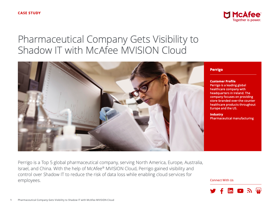 Pharmaceutical Company Gets Visibility to Shadow IT with McAfee MVISION Cloud
