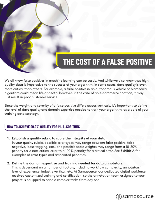 The Cost of a False Positive