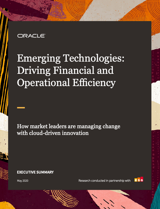 Emerging Technologies: Driving Operational Efficiency