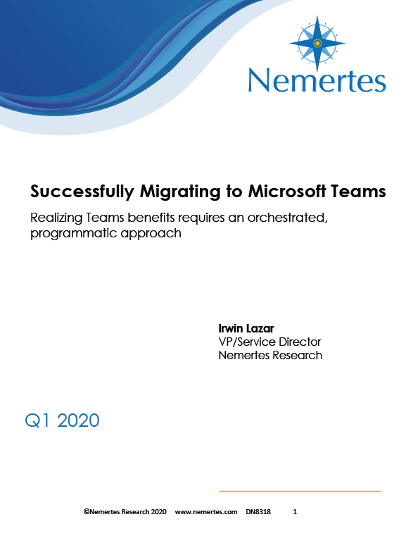 Nemertes: Successfully Migrating to Microsoft Team