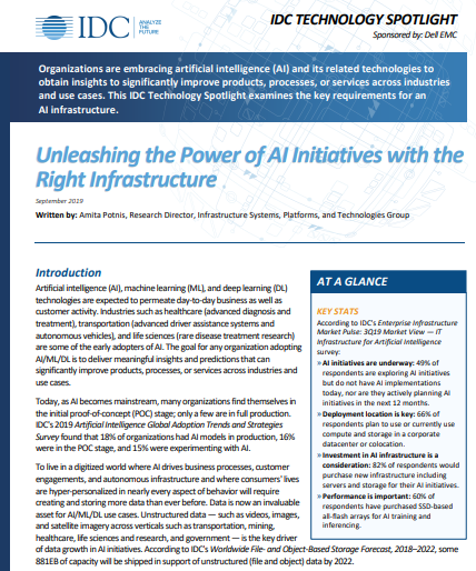 Unleashing the Power of AI Initiatives with the Right Infrastructure