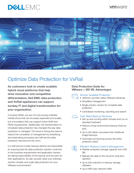 Optimize Data Protection for VxRail