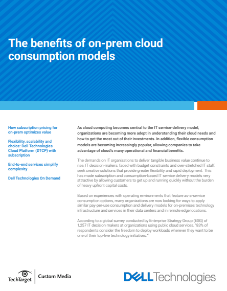 The benefits of on-prem cloud consumption models