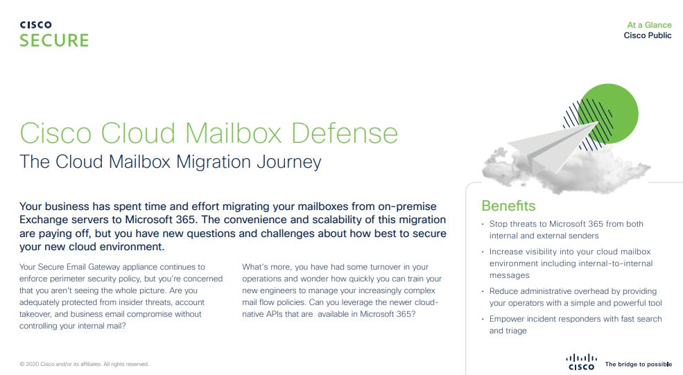 Cisco Cloud Mailbox Defense