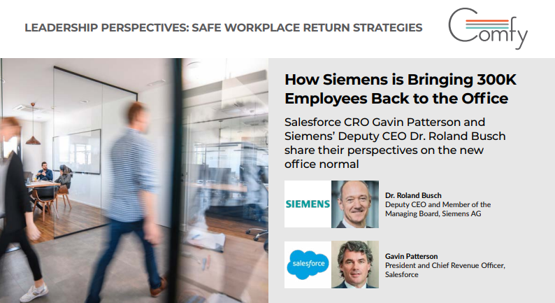 How is Siemens bringing 300K employees back to the office?