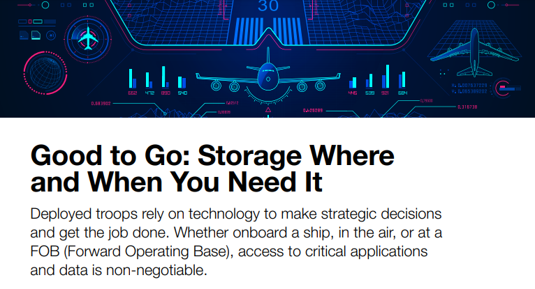 Good to Go: Storage Where and When You Need It