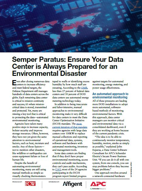 Semper Paratus: Ensure Your Data Center Is Always Prepared for an Environmental Disaster