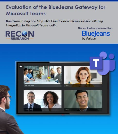 Evaluation of the BlueJeans Gateway for Microsoft Teams