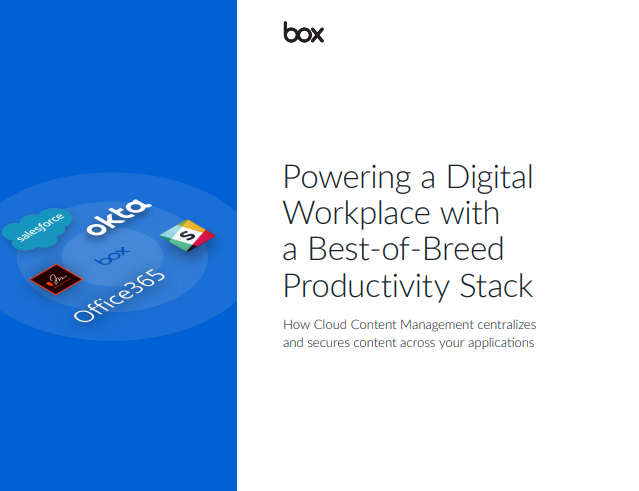 Powering a digital workplace with a best-of-breed productivity stack