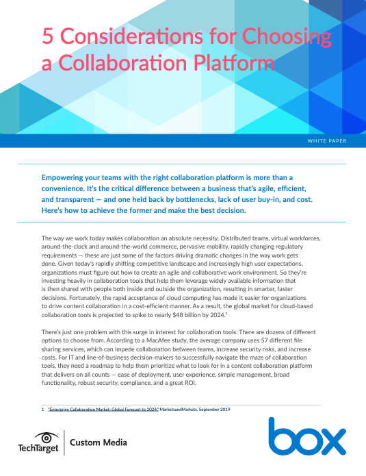5 Considerations for Choosing a Collaboration Platform