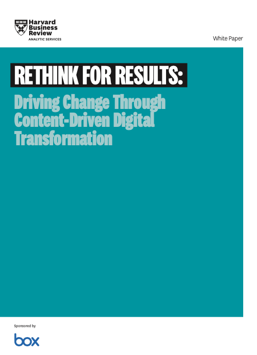 Rethink for Results: Driving Change through Content-Driven Digital Transformation
