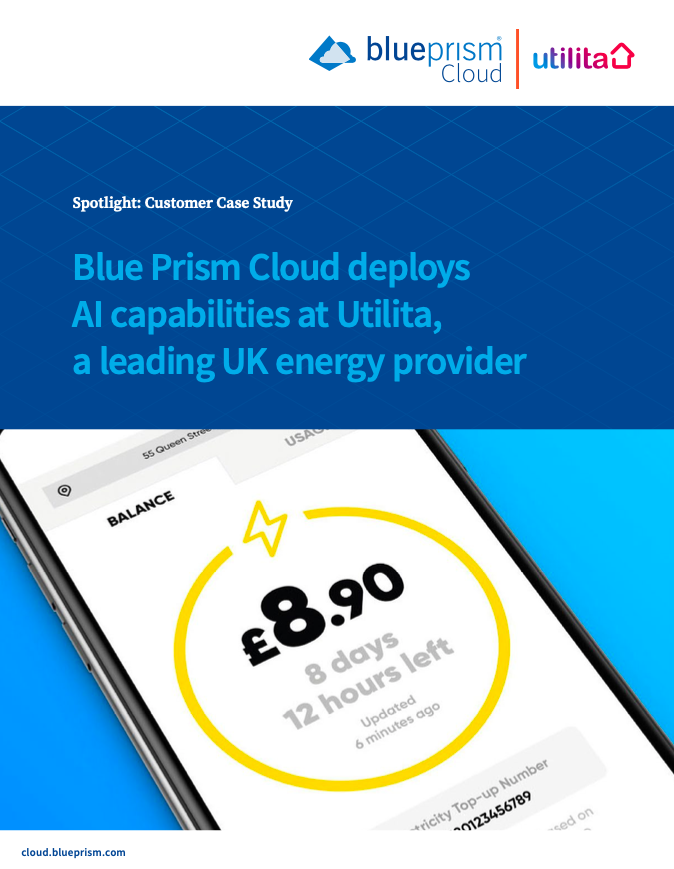 Blue Prism Cloud deploys AI capabilities at Utilita, a leading UK energy provider