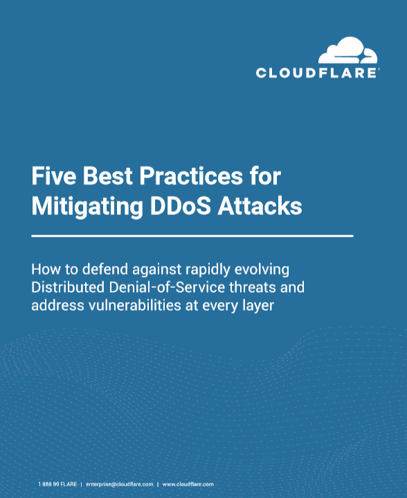 Five Best practices for DDoS Mitigation