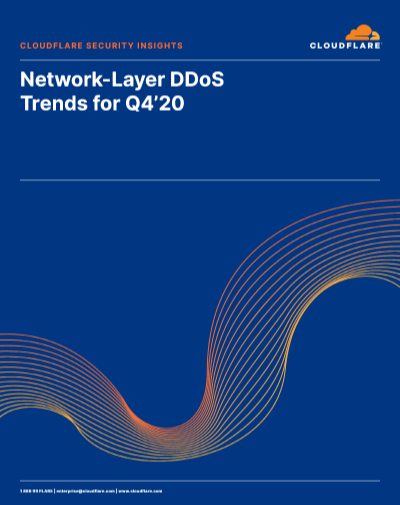 Network-Layer DDoS Attack Trends for Q4'20