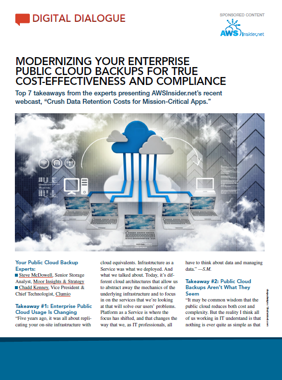 Modernizing Your Enterprise Public Cloud Backups for True Cost-Effectiveness and Compliance