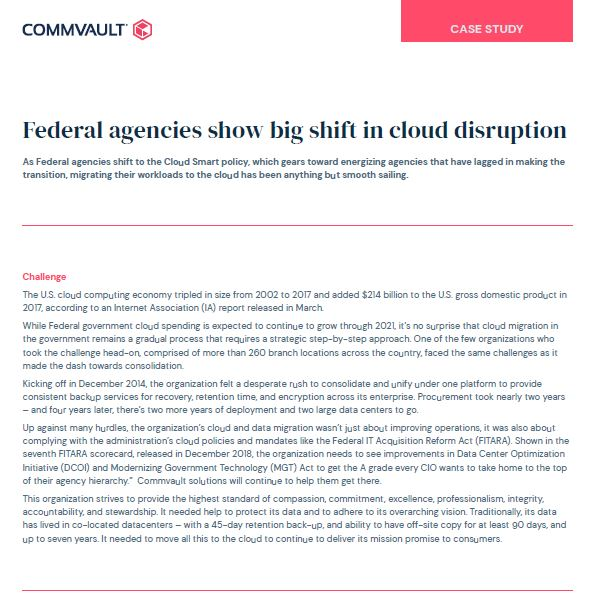 Federal agencies show big shift in cloud disruption