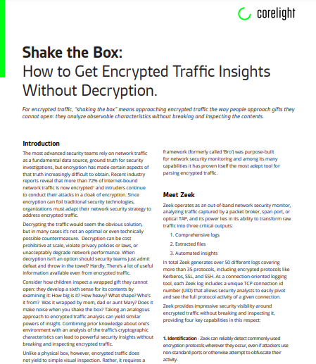 Shake the box Encrypted insights without decryption