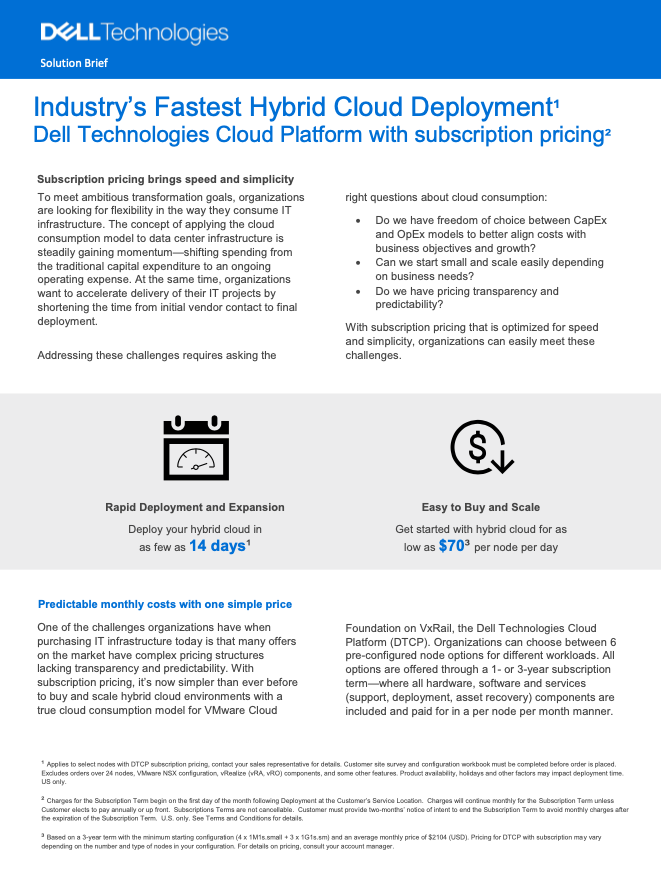 Industry's Fastest Hybrid Cloud Deployment