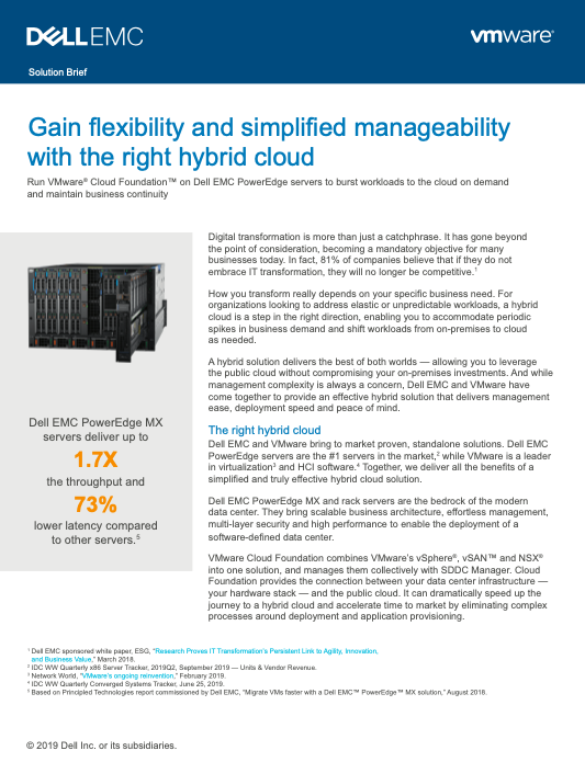 Gain flexibility and simplified manageability with the right hybrid cloud