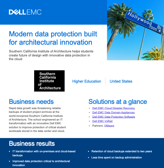 Modern data protection built for architectural innovation