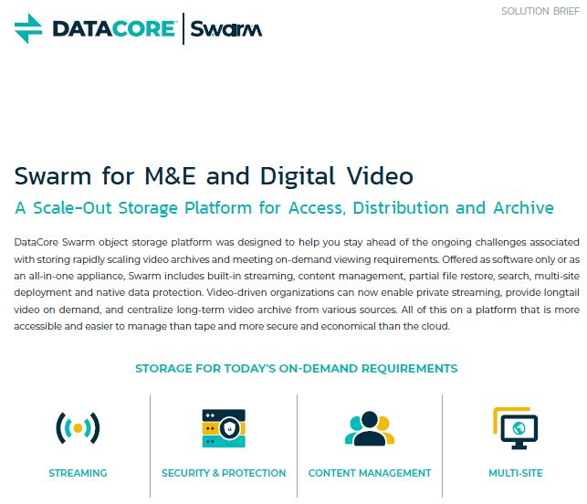 Swarm for M&E and Digital Video