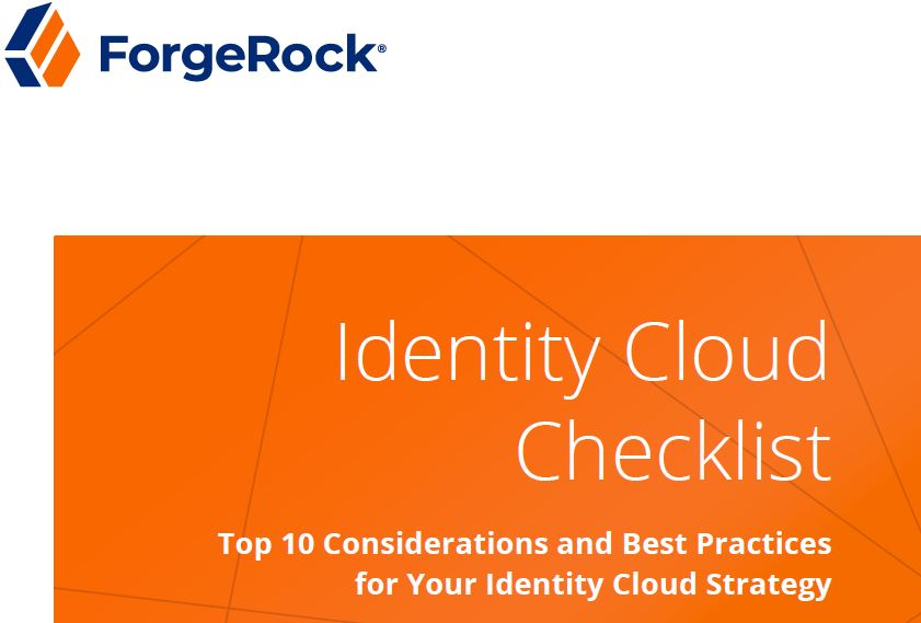 Identity Cloud Checklist