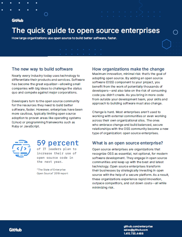 The quick guide to open source enterprises