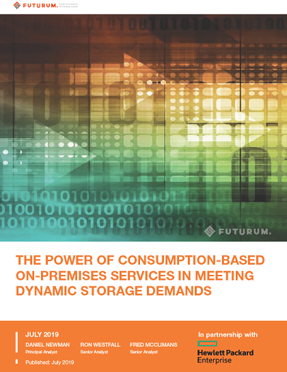 The Power of Consumption-Based On-Premises Services In Meeting Dynamic Storage Demands