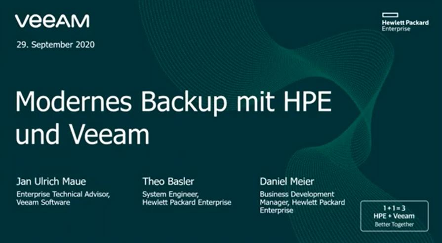 HPE Nimble und Veeam: Predict, Perform & Protect