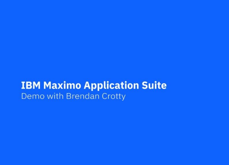 IBM Maximo Application Suite (MAS)