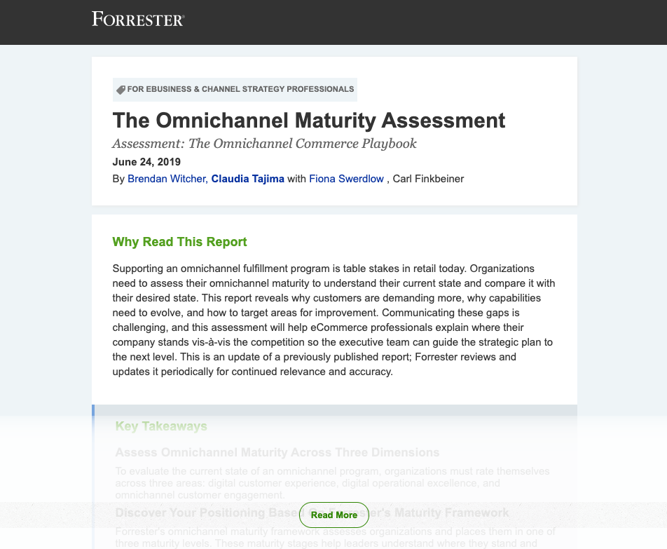 The Omnichannel Maturity Assessment