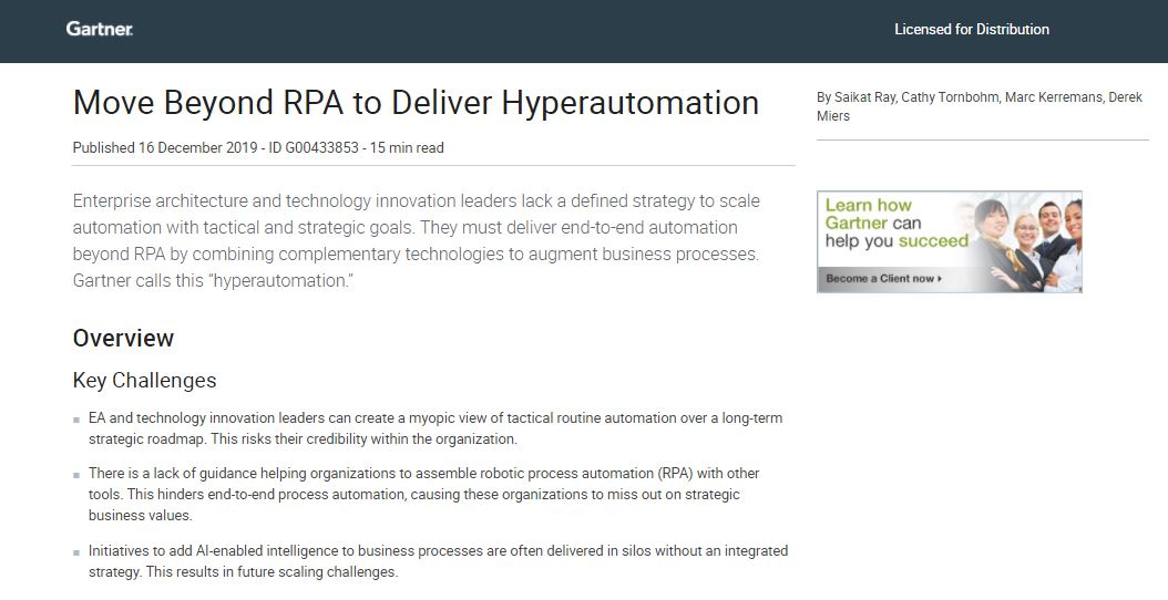 Move Beyond RPA to Deliver Hyperautomation