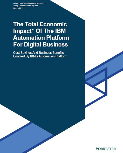 The Total Economic Impact™ Of The IBM Automation Platform For Digital Business