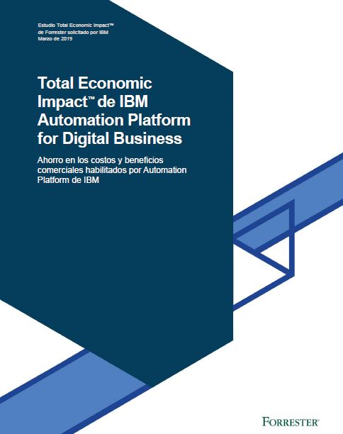 Total Economic Impact™ de IBM Automation Platform for Digital Business