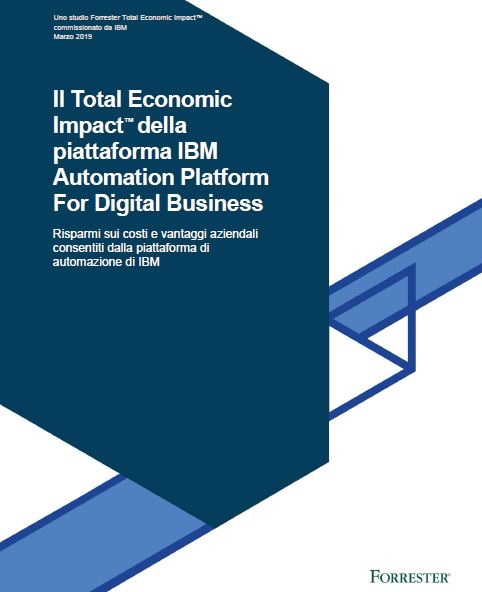 Il Total Economic Impact™ della piattaforma IBM Automation Platform For Digital Business