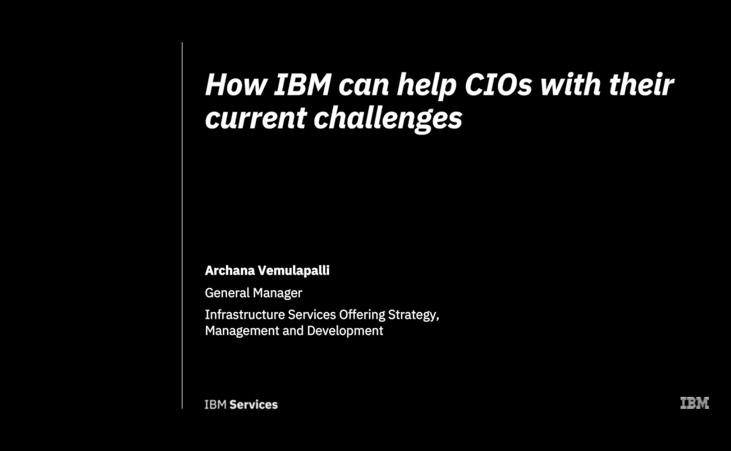 How IBM can help CIOs with their current challenges (Voiceover in German available)
