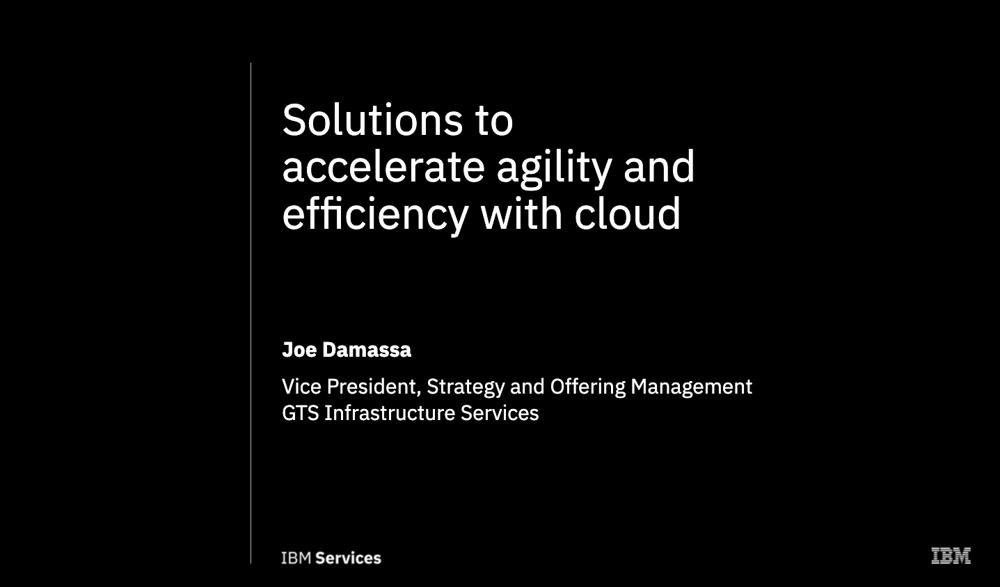 Solutions to accelerate agility and efficiency with cloud