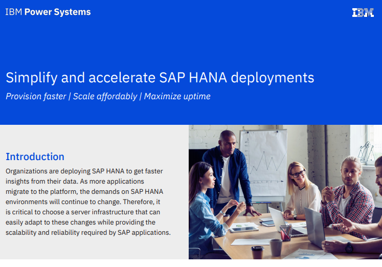 Simplify and accelerate SAP HANA deployment